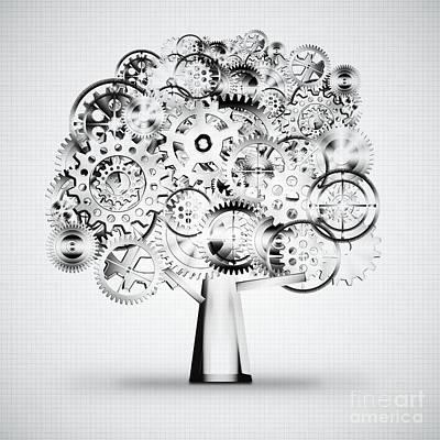 Tree Of Industrial Print by Setsiri Silapasuwanchai