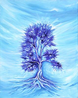 Yggdrasil Painting - Tree Of Life by David Junod