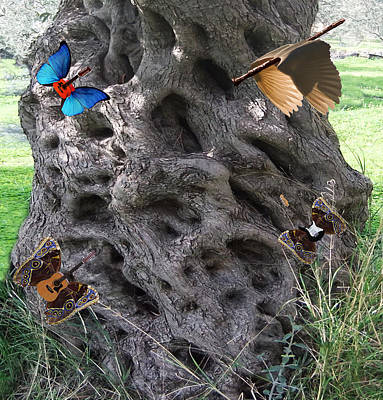 Lepidopterans Digital Art - Tree Of Life by Eric Kempson