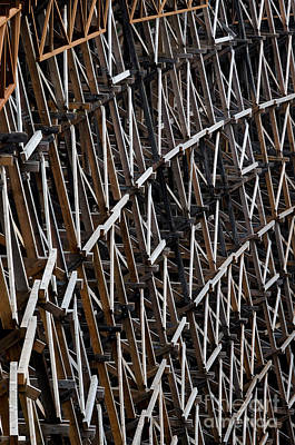 Trestle Dam Abstract Of The Frame Of The Kinsol Trestle Print by Andy Smy