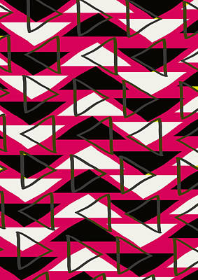 Triangles Print by Louisa Knight