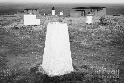 Triangulation Point And Old Weather Station At Dunnet Head Most Northerly Point Of Mainland Britain  Print by Joe Fox