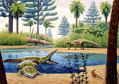 Triassic Photograph - Triassic Environment by Mauricio Anton