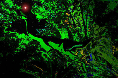 Triassic Painting - Triassic Night by David Lee Thompson