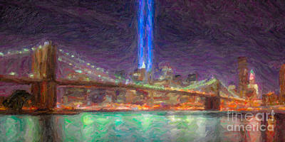 Impasto Oil Photograph - Tribute In Light Impasto by Clarence Holmes