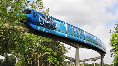 Tron A Rail Print by David Lee Thompson