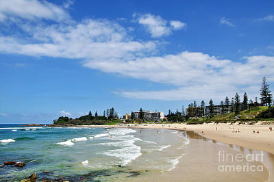 Tropical Coastline - Port Macquarie Beach Print by Kaye Menner