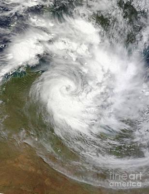 Landmass Photograph - Tropical Cyclone Paul Over Australia by Stocktrek Images