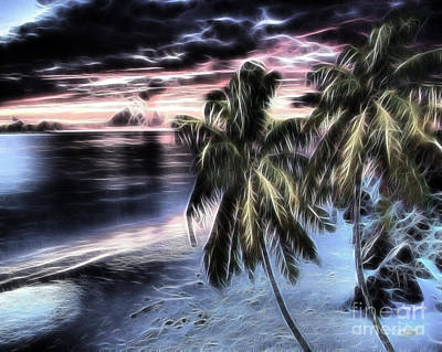Manipulation Photograph - Tropical Evening by Cheryl Young