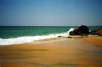 Tropical Sandy Beach Print by Jasna Buncic