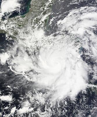 Tropical Storm Alma Print by Stocktrek Images