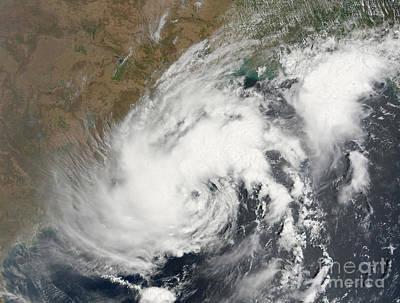 Tropical Storm Bijli Draped The East Print by Stocktrek Images