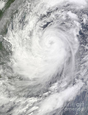 Landmass Photograph - Tropical Storm Ketsana by Stocktrek Images
