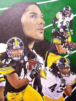 Pittsburgh Steelers Painting - Troy Polamalu by Billy Haney