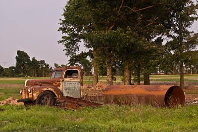 Homesickness Photograph - Truck And Tank 32 by Douglas Barnett