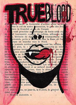 Drip Drawing - True Blood Lick by Jera Sky