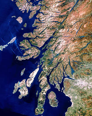 Islay Photograph - True-colour Satellite Image Of Western Scotland by Planetobserver