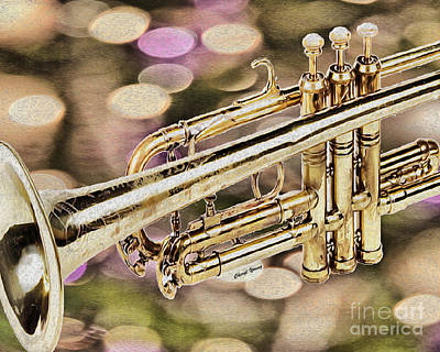 Music Photograph - Trumpet by Cheryl Young