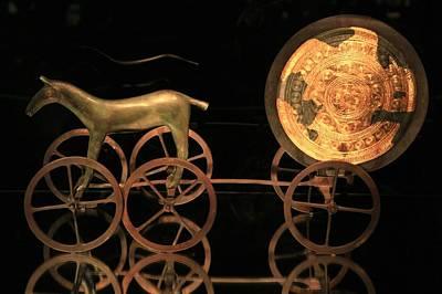 Trundholm Sun Chariot, Bronze Age Print by Detlev Van Ravenswaay