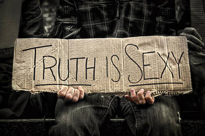 Occupy Photograph - Truth Is Sexy by Evelina Kremsdorf
