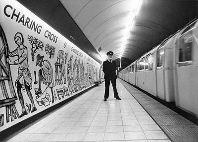 Tube Train Murals Print by Evening Standard