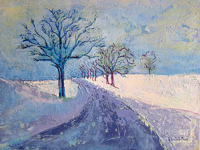 Massachusetts Painting - Tufts In Winter by Allison Coelho Picone