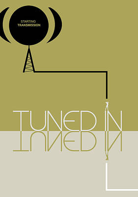 Listening Digital Art - Tuned In Poster by Naxart Studio