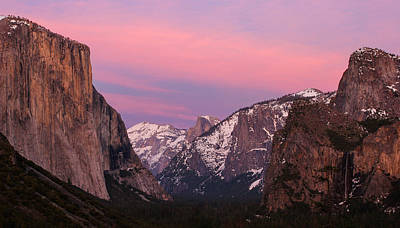 Tunnel View Twilight Print by Adam Pender
