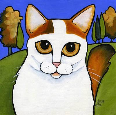Turkish Van Cat Painting - Turkish Van  by Leanne Wilkes