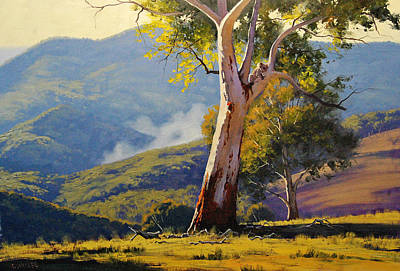 Gum Tree Painting - Turon Gum Tree by Graham Gercken