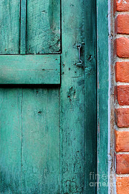 Latch Photograph - Turquoise Door by HD Connelly