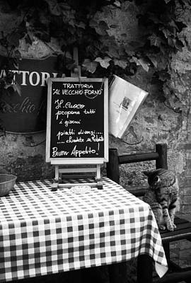Tuscany Art Photograph - Tuscan Cafe Diner by Andrew Soundarajan