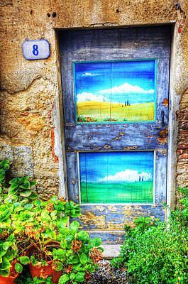 Italy Mediterranean Art Tuscany Photograph - Tuscan Door 1 by Eggers Photography