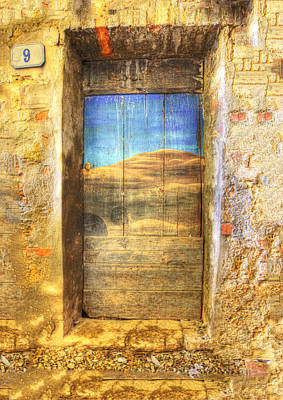 Italy Mediterranean Art Tuscany Photograph - Tuscan Door 2 by Eggers Photography