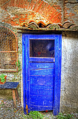 Italy Mediterranean Art Tuscany Photograph - Tuscan Door 3 by Eggers Photography