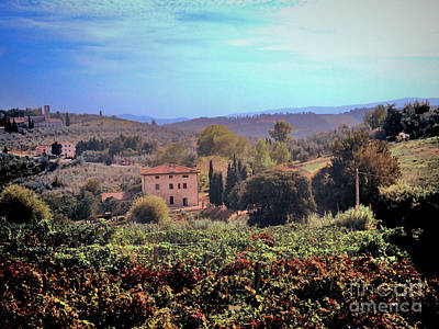 Outlook Photograph - Tuscan Vista by Karen Lewis