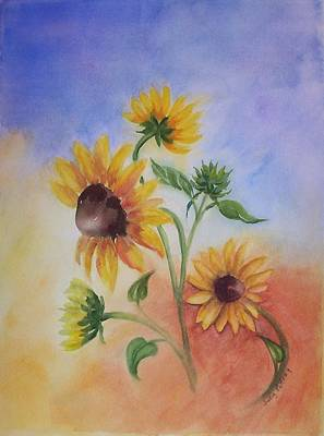 Free Form Painting - Tuscany Summer by Judy Palfrey