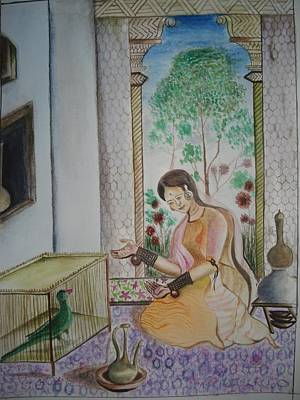 Water Filter Painting - Tutinama  Tales Of The Parrot by Prasenjit Dhar