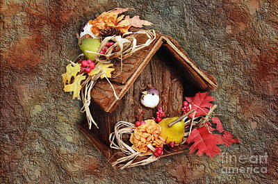 Red Roof Photograph - Tweet Little Bird House by Andee Design