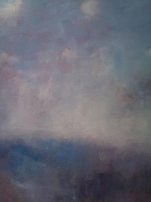 Twilight Mist Over The Arreton Valley Print by Alan Daysh