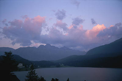 Twilight View Of Saint Moritz Lake Print by Taylor S. Kennedy