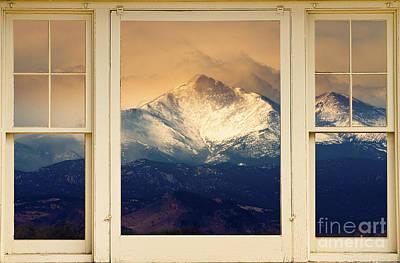 Twin Peaks Meek And Longs Peak Window View Print by James BO  Insogna