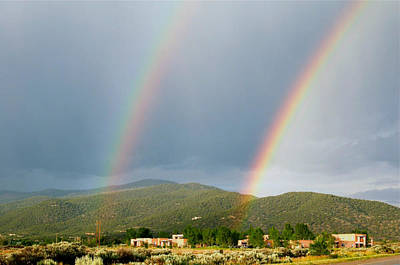 Twin Taos Rainbows Print by Michael Knight