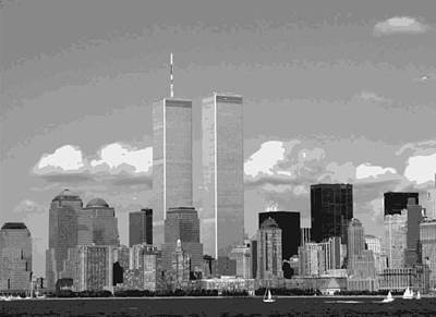 Twin Towers Bw12 Print by Scott Kelley
