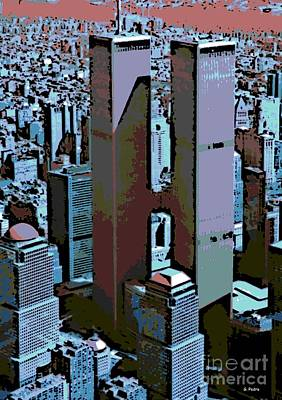 Innocent Angels Digital Art - Twin Towers by George Pedro