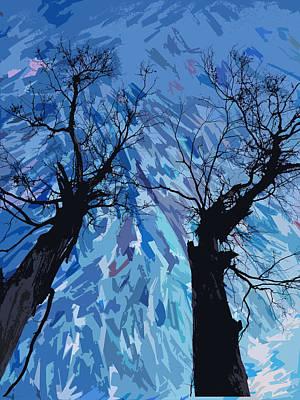 Doubting Mixed Media - Twin Trees by Jesus Nicolas Castanon