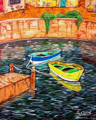 Two Boats Print by Lee Halbrook