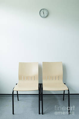 Two Chairs And A Clock Print by Iain Sarjeant