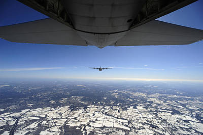 Two Ec-130j Commando Solo Aircraft Fly Print by Stocktrek Images