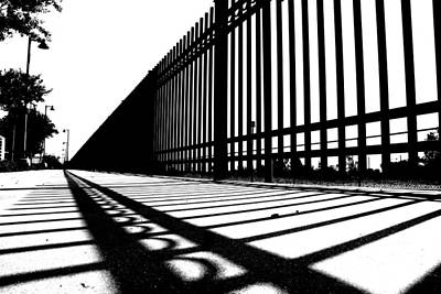 Black And White Photograph - Two Fences by Scott Brown